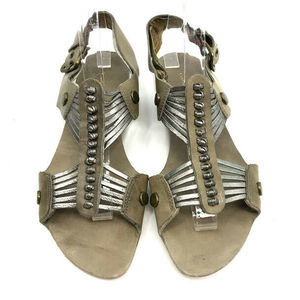 Cynthia Vincent Shoes - Cynthia Vincent Sandals 8.5 Strappy Sliver Slingba